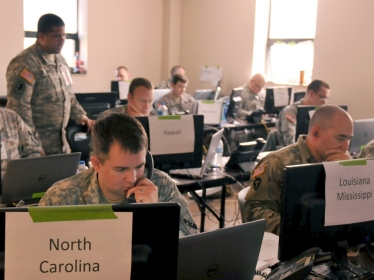 Members of the National Guard participate in Cyber Shield 2016