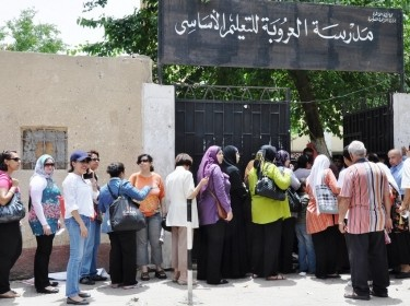 Egyptians voting at the 2012 presidential elections in Cairo