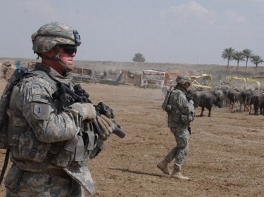 U.S. soldiers in East Baghdad