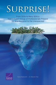 cover of RR341: Surprise! How Professionals Prepare for and Respond to the Unexpected