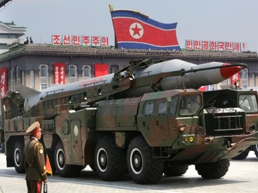 A missile is carried by a military vehicle during a parade to commemorate the 60th anniversary of the signing of a truce in the 1950-1953 Korean War, at Kim Il-sung Square in Pyongyang July 27, 2013