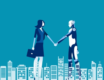 Human and Robot agreement, graphic by zenzen/AdobeStock