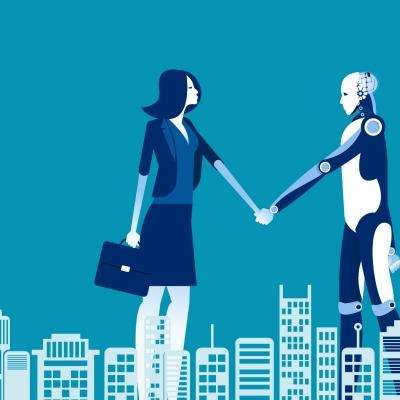 Human and Robot agreement, graphic by zenzen/AdobeStock