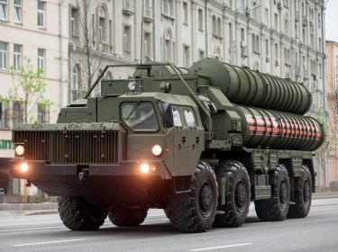 s-400 weapon system at a Moscow parade