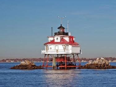 Thomas Point Light near Annapolis, MD