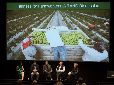 Panel discussion at screening of Food Chains on February 11, 2015