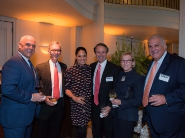 Pardee RAND board members Pat Geraghty and Kip Hagopian, RAND trustees Soledad O'Brien and Gerry Parsky, Mary Ann Hagopian, and RAND trustee Joe Greer
