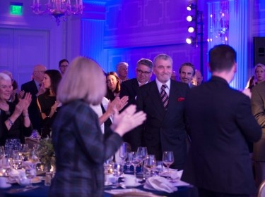 Brian Michael Jenkins gets a standing ovation as he is honored at the 2018 One Night with RAND event in Santa Monica, California