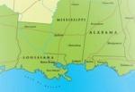 Gulf States map