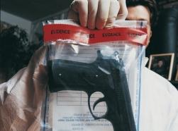 gun crime evidence bag