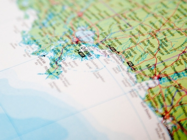 Map of the Gulf Coast of Louisiana