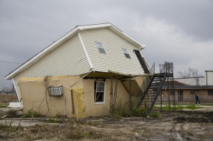 Ninth Ward of New Orleans over a year after Katrina, showing the devastation.