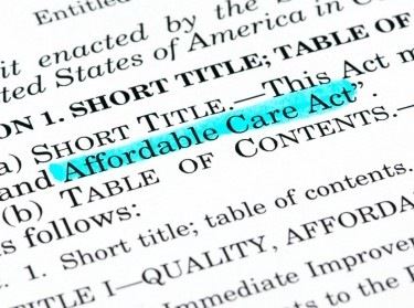 Affordable Care Act highlighted in the act itself