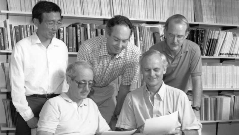 Wrapping Up the Health Insurance Study (1988): Naihua Duan, Joe Newhouse, Bill Rogers, Carl Morris and Will Manning