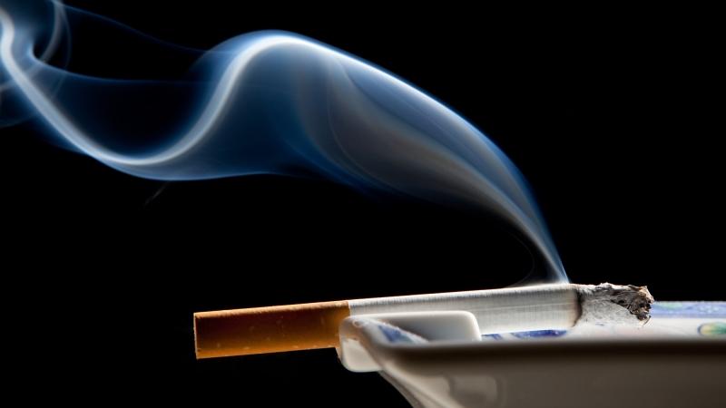 ashtray and smoke wisp