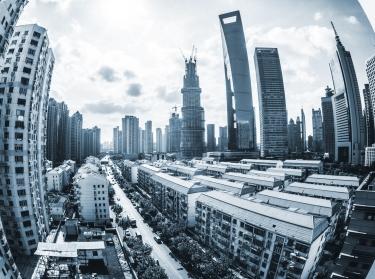 A cityscape of Shanghai