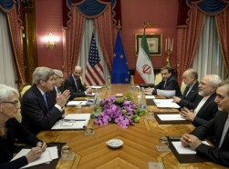 Meeting to discuss Iran nuclear deal at the Beau Rivage Palace Hotel in Lausanne March 29, 2015