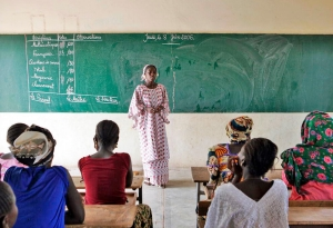 Women Attend Classes in Rural Community of Senegal