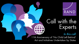 Conference Call on 11th Anniversary of 'No Child Left Behind' Act and Initiatives Undertaken by States
