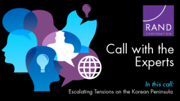 Media Conference Call on Escalating Tensions on the Korean Peninsula