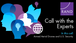 Media Call on Armed Aerial Drones and U.S. Security