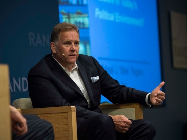 Mike Rogers speaks at a Events @ RAND event