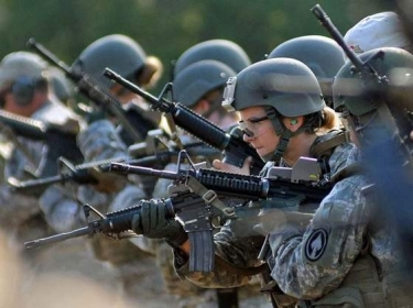 Soldiers rehearse weapons skills while attending the Cultural Support training course at Fort Bragg, N.C.