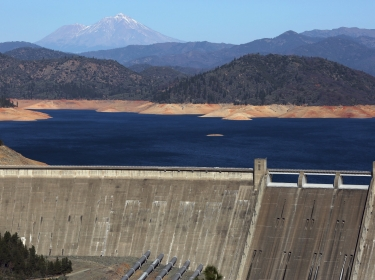 Shasta Lake is 100 feet below its normal levels January 23, 2014