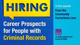Career Prospects for People with Criminal Records: From the Community Corrections Lens
