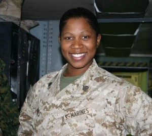 Taniki (Jones) Richard, while on active duty for the Marines in Al Asad, Iraq in 2007