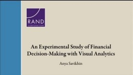 An Experimental Study of Financial Decision-Making with Visual Analytics