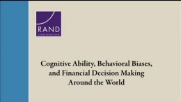 Cognitive Ability, Behavioral Biases, and Financial Decision Making Around the World