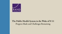 The Public Health System in the Wake of 9/11: Progress Made and Challenges Remaining
