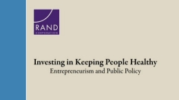 Entrepreneurism and Public Policy