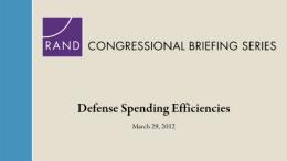Defense Spending Efficiencies