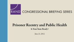 Prisoner Reentry and Public Health: Is Your State Ready?