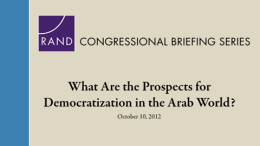 What Are the Prospects for Democratization in the Arab World?