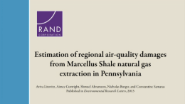 Estimation of Regional Air-Quality Damages from Marcellus Shale Natural Gas Extraction in Pennsylvania