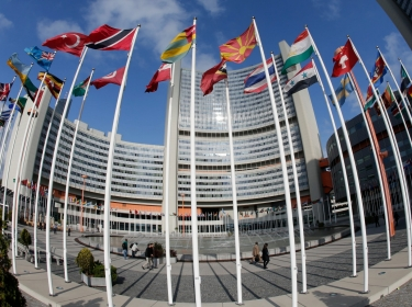 The United Nations headquarters building is pictured in Vienna where six world powers and Iran launched the decisive phase of diplomacy over Tehran's nuclear work on May 14, 2014