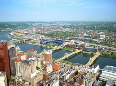 aerial view of Pittsburgh, Pennsylvania