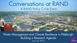 Water Management and Climate Resilience in Pittsburgh: Building a Research Agenda