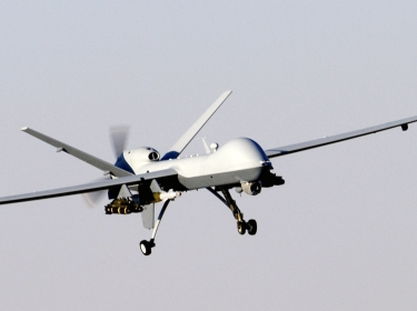 MQ-9 Reaper unmanned aerial attack vehicle in flight