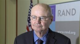 James Dobbins briefing the RAND Strategic Rethink project