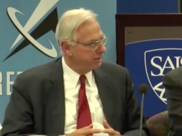 Hans Binnendijk and Andy Hoehn at the SAIS event on Strategic Rethink