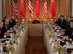 U.S. President Donald Trump holds a bilateral meeting with China's President Xi Jinping at Trump's Mar-a-Lago estate in Palm Beach, Florida