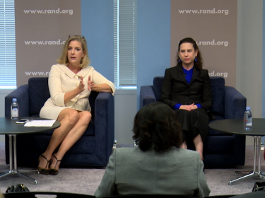 Christine Wormuth and Kimberly Kagan at the 2018 Roberta Wohlstetter Forum on National Security