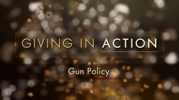 Giving in Action: Gun Policy