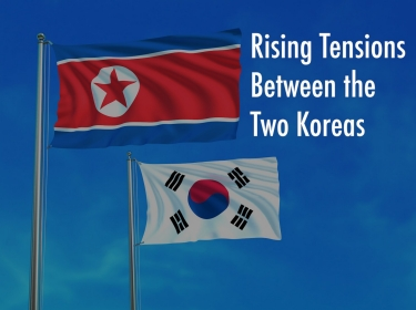North Korean and South Korean Flags