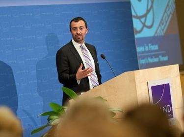 Alireza Nader speaking at a June 19, 2012 RAND Issues in Focus event