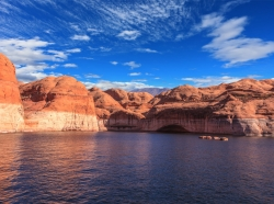 Lake Powell reservoir on the Colorado River